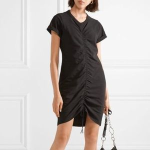 T by Alexander wang ruched front tshirt dress